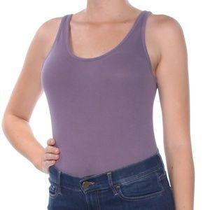 Free People Womens Casual Sleeveless Bodysuit Purp
